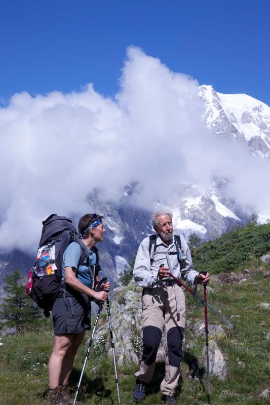 Mont Blanc trekkers