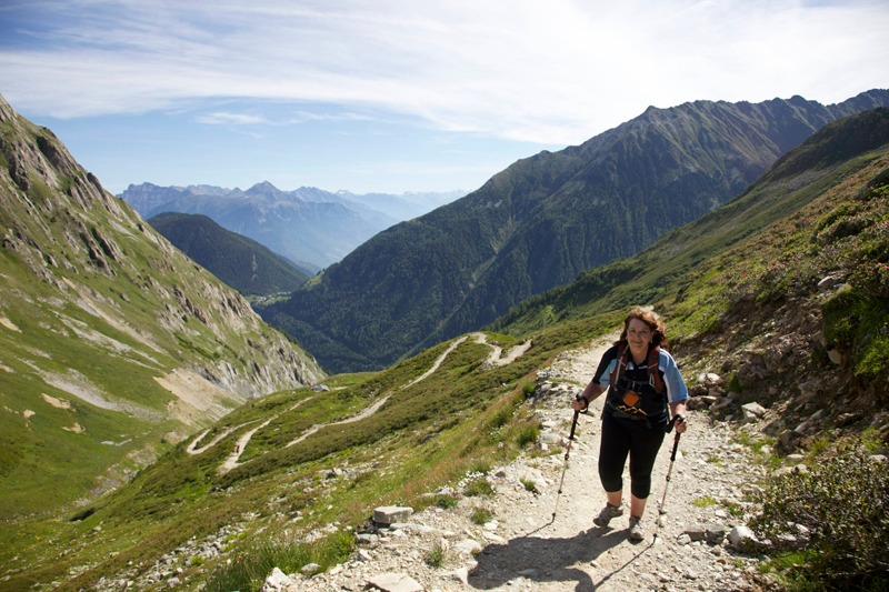 walking to Col de Balme