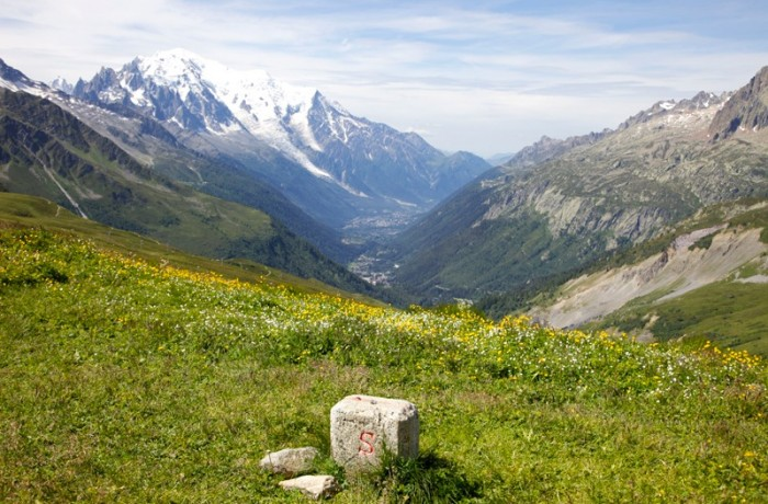 Swiss – France border on TMB