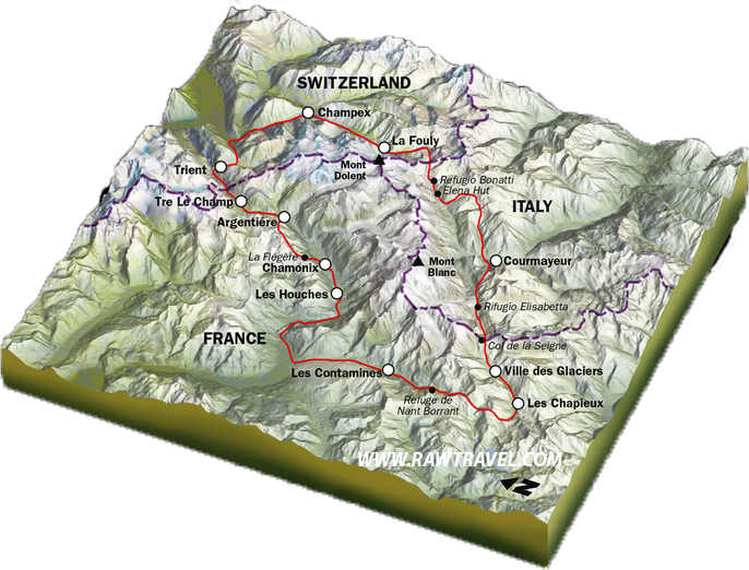 Mont-Blanc-map