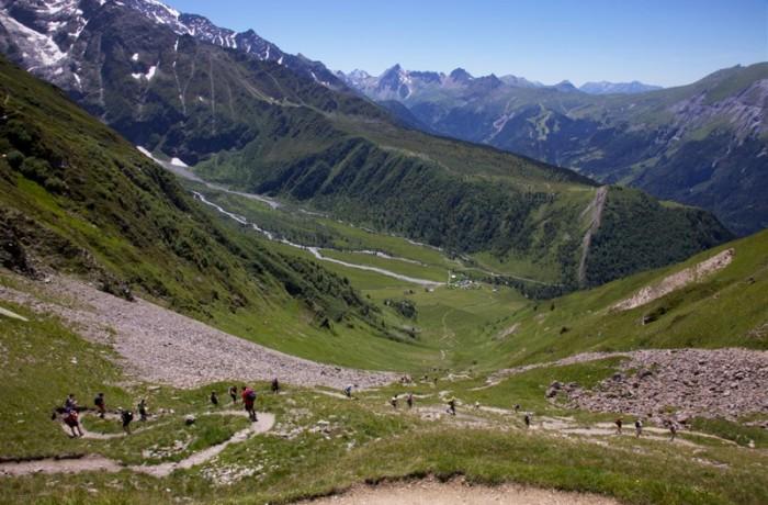 Descending from Col De Tricot
