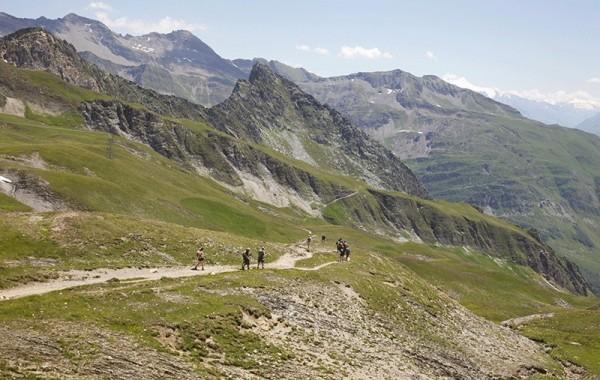 Descending to Les Chapieux