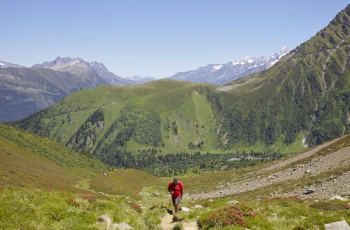 Climbing to Col de Tricot