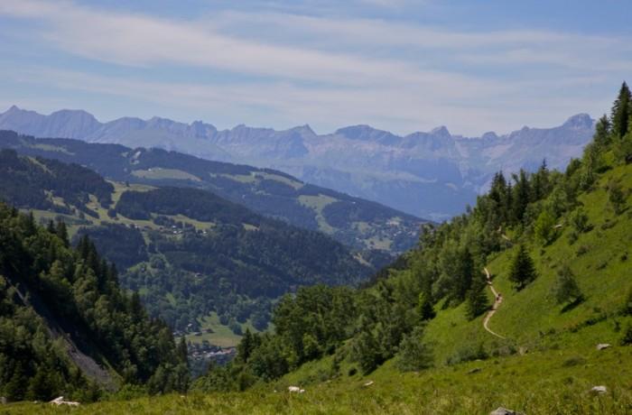 Views towards Plateau D'Assy